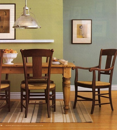 Dos colores para diferenciar dos espacios Colores para living comedor