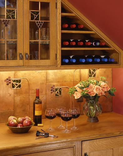 Un gabinete de cocina para el vino - Muebles para poner botellas de vino ...