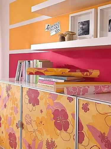 Papel pintado para renovar un mueble - Papel adhesivo para forrar muebles ...