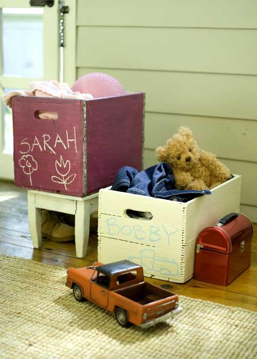 Una caja de madera para los juguetes - Cajas de madera para guardar juguetes ...