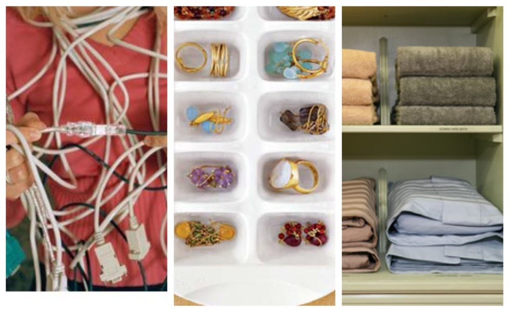 Joyas, cables y sábanas: tres trucos para organizarlos