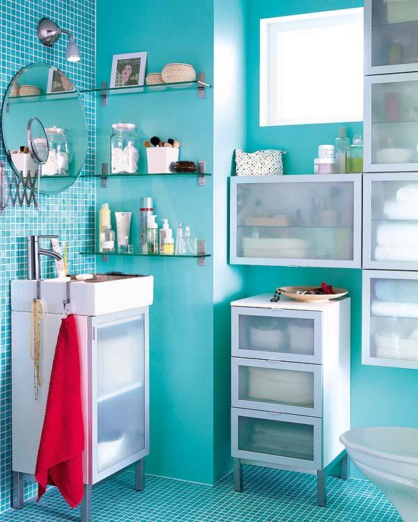 Soluciones para ba os peque os for Como organizar espacios pequenos