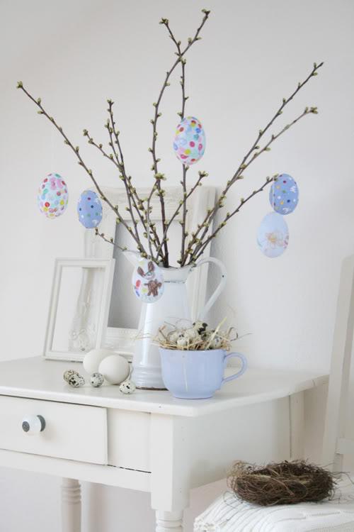 Ramas secas y huevos decorados para tu mesa de pascua - Ramas decoradas ...
