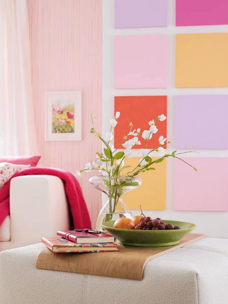 C mo decorar una pared con paneles de colores - Como decorar una pared blanca ...