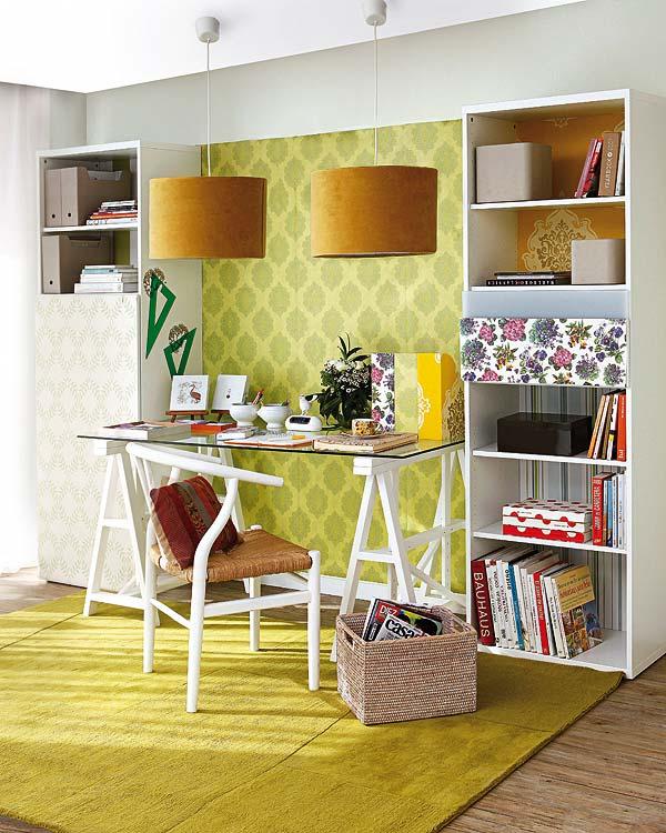 Rincones con encanto para trabajar en casa - Como decorar un despacho en casa ...