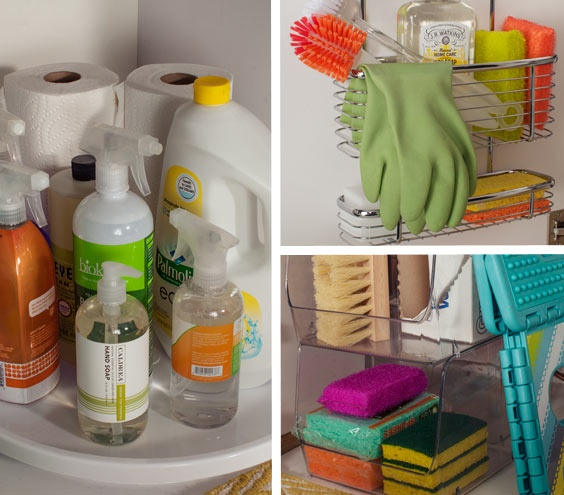 Ideas para organizar tus productos de cocina for Cleaning products for kitchen