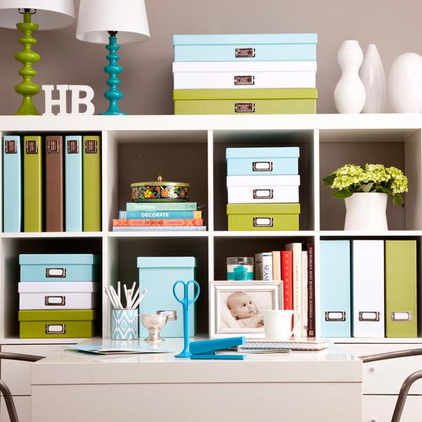 Ideas para organizar en baldas abiertas