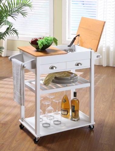 Tienda cristina carrito isla de cocina por 132 for Muebles de cocina islas con ruedas
