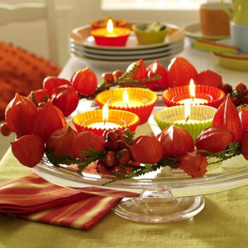 Una idea para decorar tu mesa de otoño