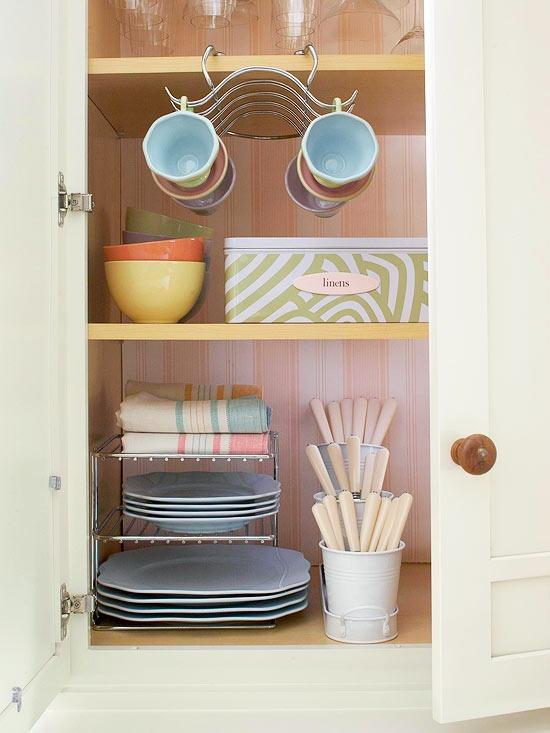 Ideas para organizar una cocina peque a - Como organizar los muebles en una casa pequena ...