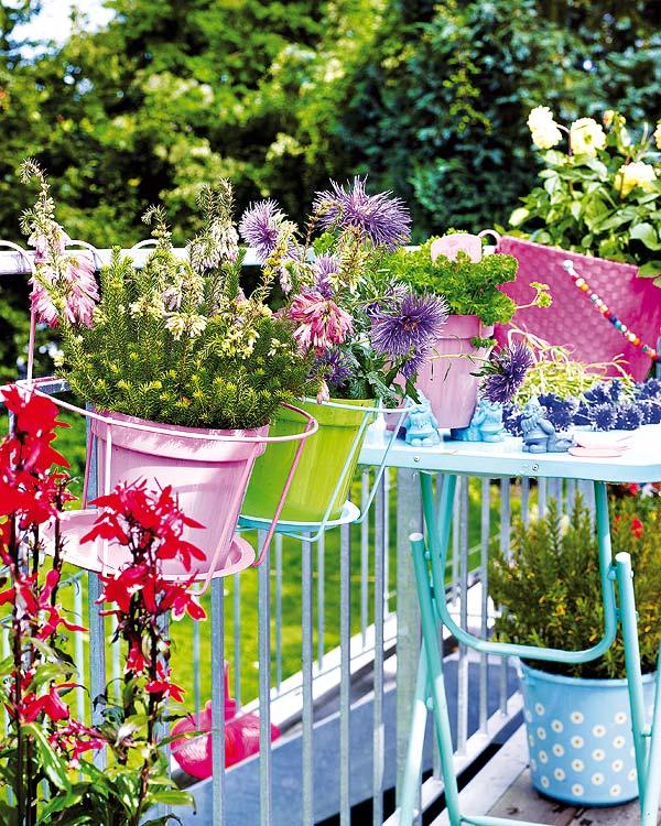 C mo a adir color a una terraza peque a for Como cerrar una terraza pequena