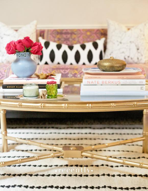 gold-bamboo-table-furbish-pillows