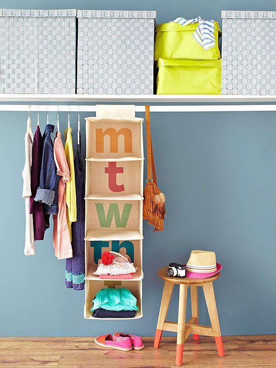 Vuelta a la escuela: organiza la ropa de cada día