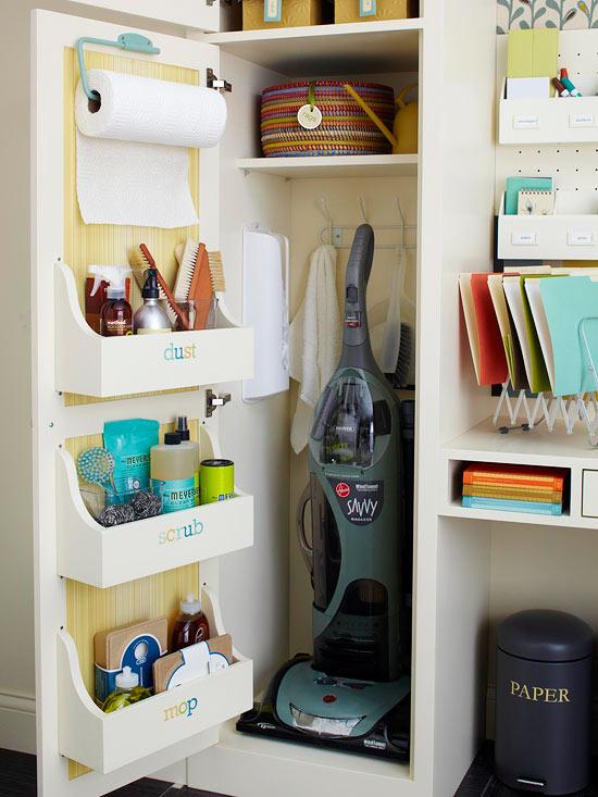 Ideas originales para organizar el armario de la limpieza