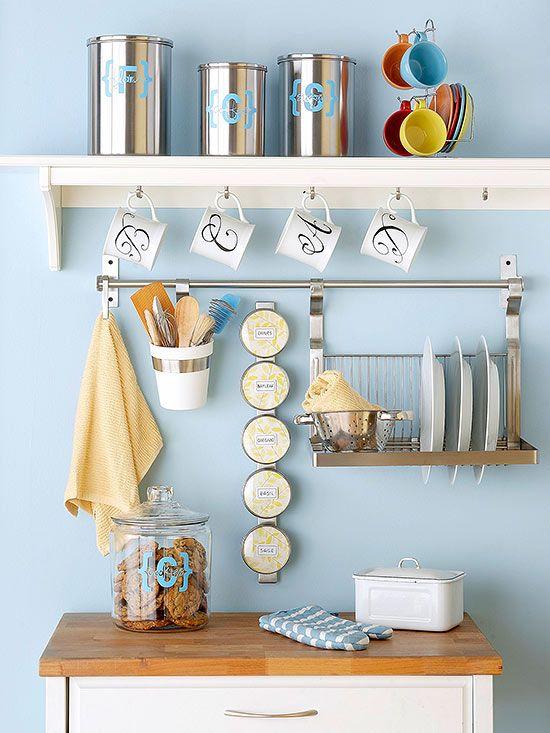 Detalles con encanto en una cocina pequeña