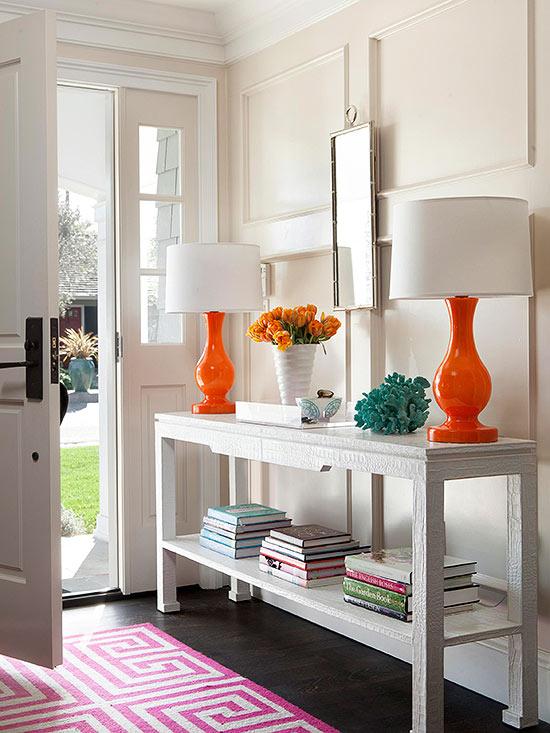 Ideas y colores para decorar tu entrada