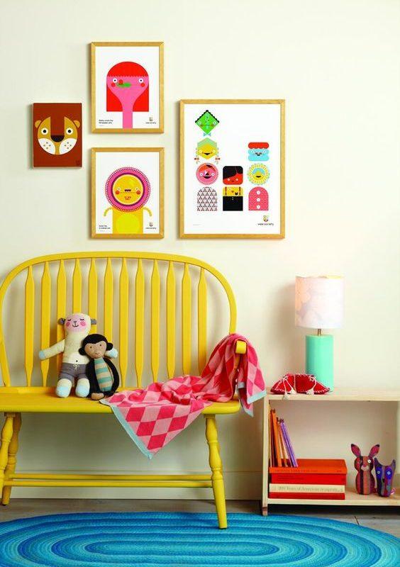 Ideas para añadir color al cuarto de los niños