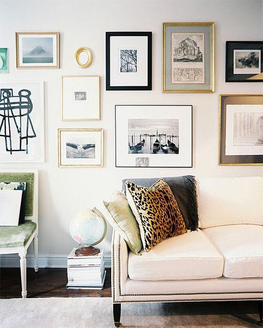 Ideas para organizar tus cuadros en la pared
